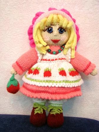Игрушка Вязание спицами: Куколка.  Пряжа.  Фото 1.