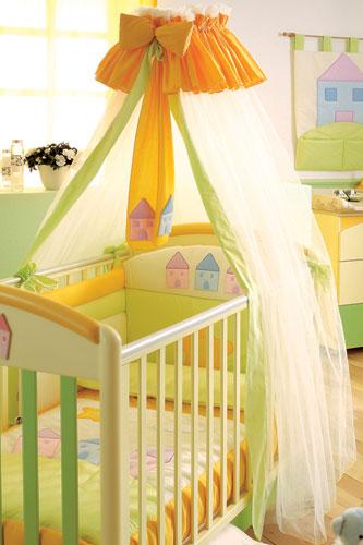 Балдахин для детской кроватки своими