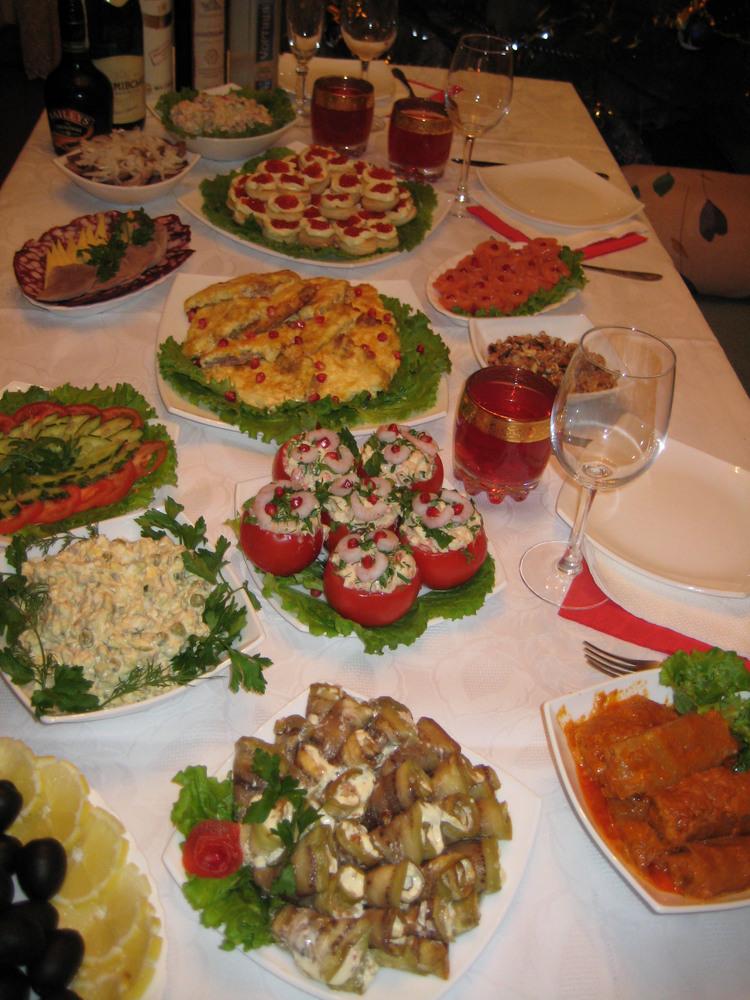 Блюда новогоднего стола фото в домашних условиях