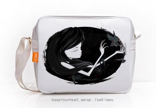 Дизайнерская сумка, автор иллюстраций/принтов - Глеб Vanu.