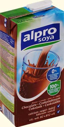 Напиток соевый Alpro Soya шоколадный 1,8%, 1л