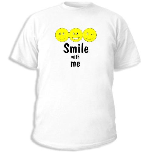 увеличить мужскую майку Smile with me.