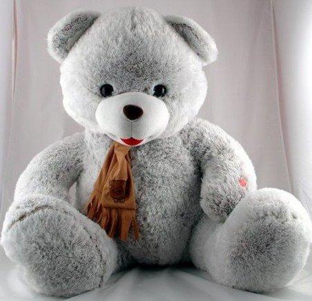 ...время вернулся с огромным медведем, практически в рост девушки.