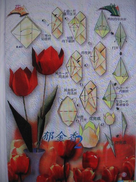 Поделки к 8 марта. тюльпаны -оригами.