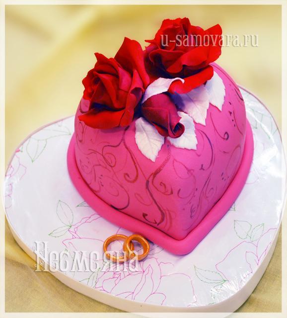 Торт сердце из мастики лучшие торты