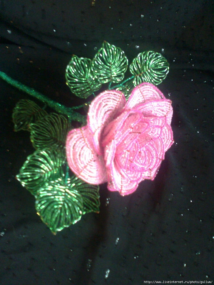схемы. роза из бисера.