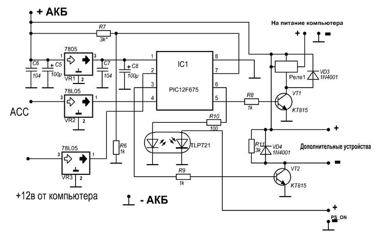 2) Схема контроллера: