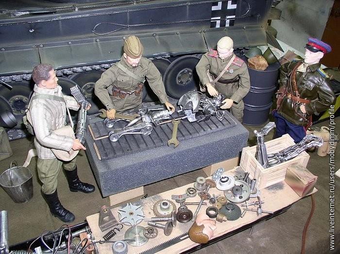 На dirty ruминиатюры танк и красная армия