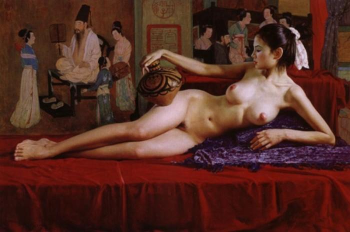 Эротической китайской живопись