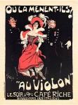 Jules-Alexandre Grun. Au Violon, Maitres de l'Affiche