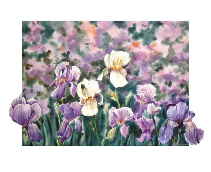 """""""Петушки """" расцвели под окном, фиолетовый цвет, бархатистый.  Было солнечно утром и днём, ночью плакался дождь..."""