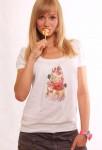 """футболка принт """"торт розовый"""""""