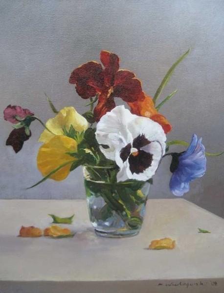 Wielogorski Antoni.  Это бабочки, улетая, Им оставили свой портрет.  Анютины глазки, Жасмин, маргаритки, Вы...