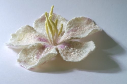 Валяние цветочка яблони Валяем вот такой цветочек 1 2Для работы нам...
