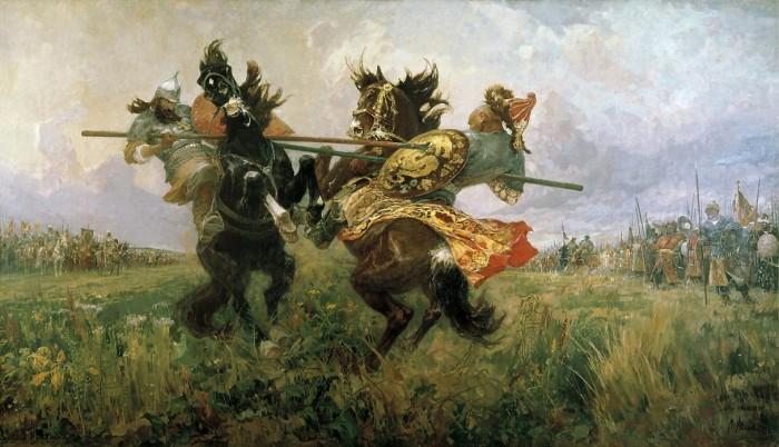 Авилов Михаил Иванович_Поединок Пересвета с Челубеем на Куликовом поле