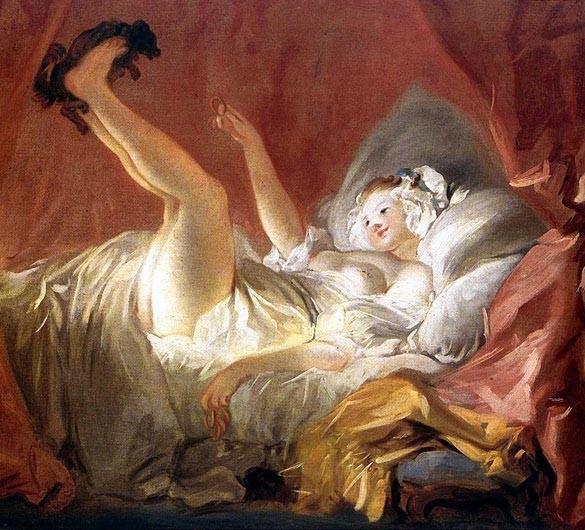 """""""Девочка, играющая с собачкой"""" 1772, Частное собрание, Париж"""