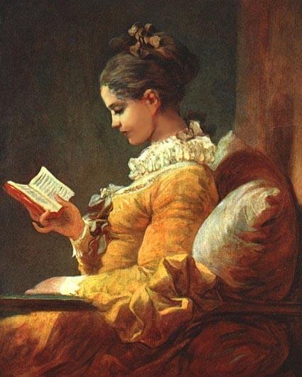 """""""Читающая молодая женщина"""" 1776, Нац.галерея, Вашингтон"""