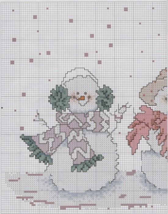 Dancing snowmen 1.
