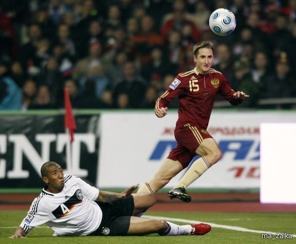 Футбол. Россия - Германия 0:1.