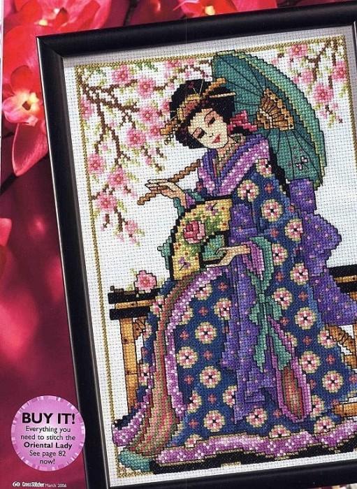 свой цитатник или сообщество!  Из серии Восточная красавица-вышивка.  Размещено с помощью приложения.