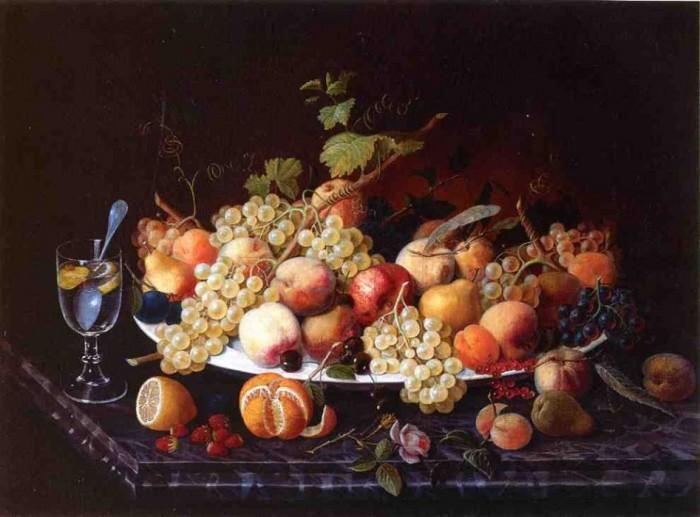 Натюрморт с фруктами. 1850