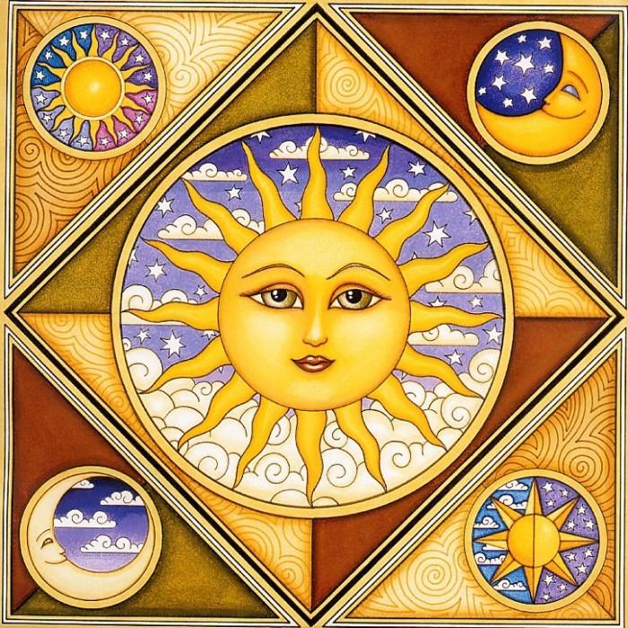"""Автор:Admin.  Схема вышивки  """"Серия Солнце и Луна."""