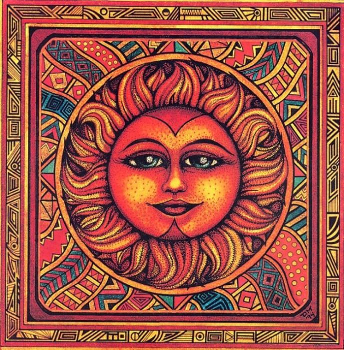 "Схема вышивки  ""Серия Солнце и Луна."