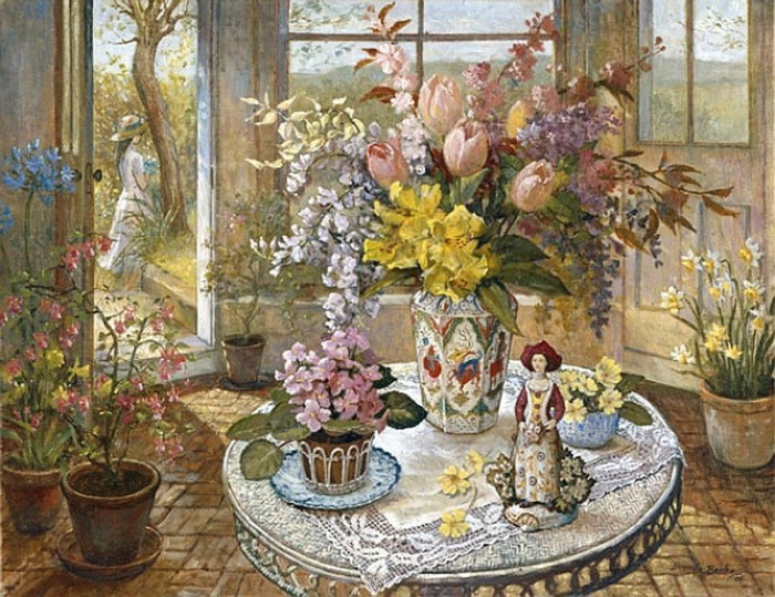 In the Garden - The Flower Table