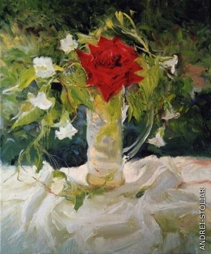 Вьюнок и роза (