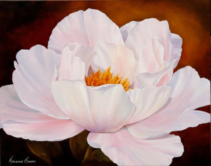 Ошеломляющие цветы художницы Marianne Broome.