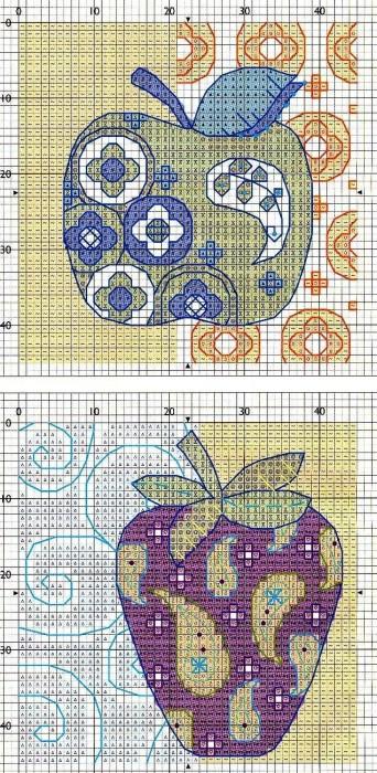 Вышивка крестом абстракция схемы