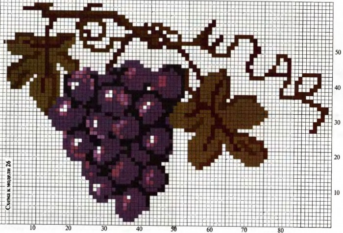 "Схемы вышивка ""Виноград"""