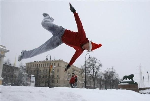 Снег под Новый год