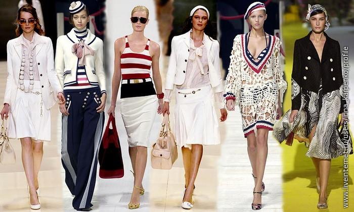 ОДЕЖДА В МОРСКОМ СТИЛЕ Морской стиль - один из стилей одежды; существует...