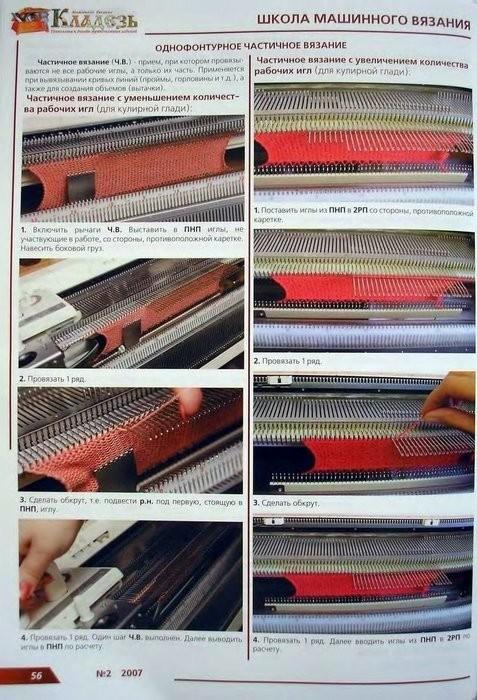 Вязание на однофонтурной машине нива мастер классы