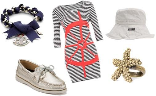 Описание: Морской стиль в одежде Костюм для.