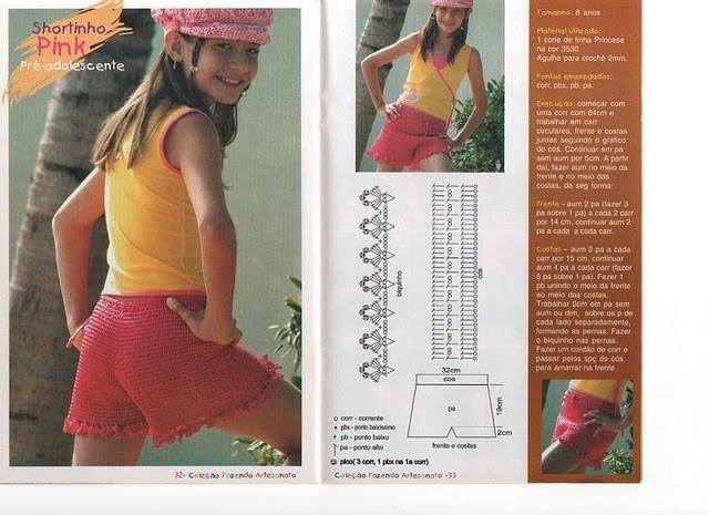Вязание крючком для девочек шортики