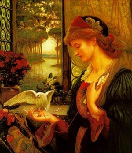 Marie Spartali Stillman  British, 1844 - 1927 Love's Messenger
