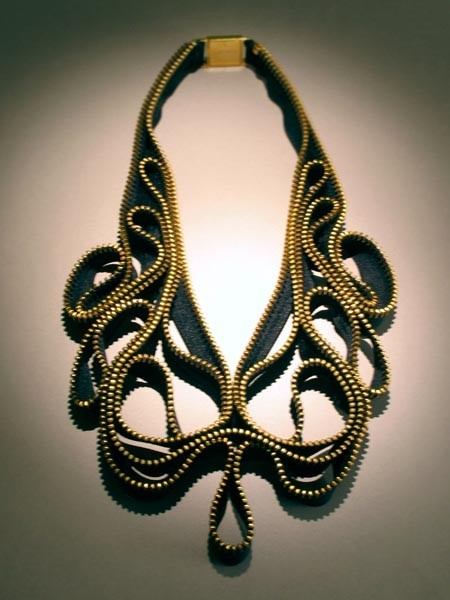 jewelry made of zipper