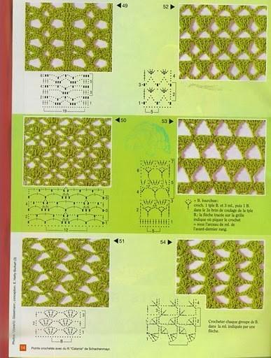 Вязание-крючок-Рисунки и схемы узоры крючок.
