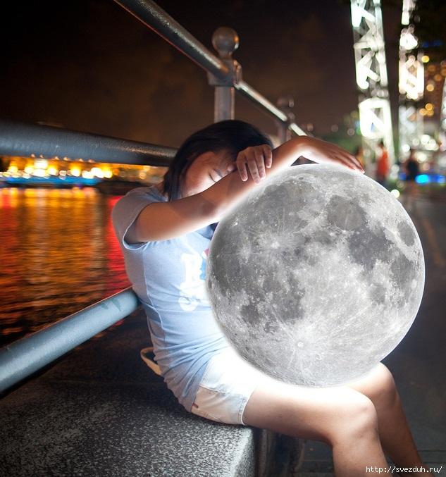 луна фотошоп