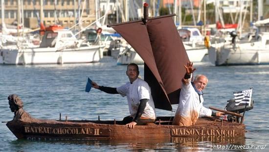 лодка из шоколада