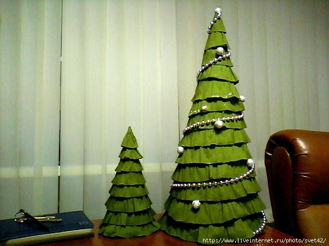3d елка из бумаги своими руками