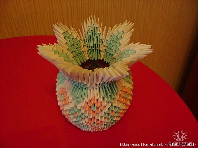Модульное оригами лампа