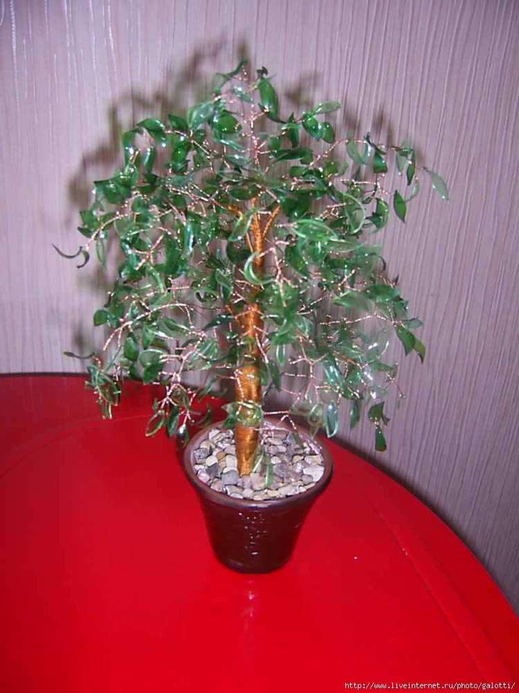 Пластиковое дерево своими руками 83