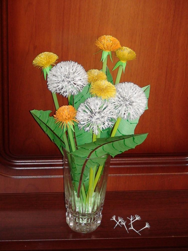 Цветы из трубочек бумаги своими руками 32