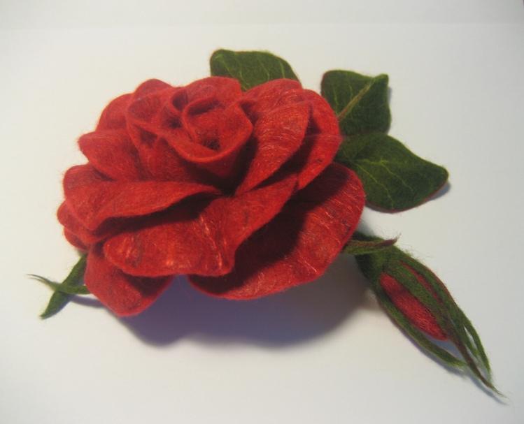 Мастер класс сухое валяние роза
