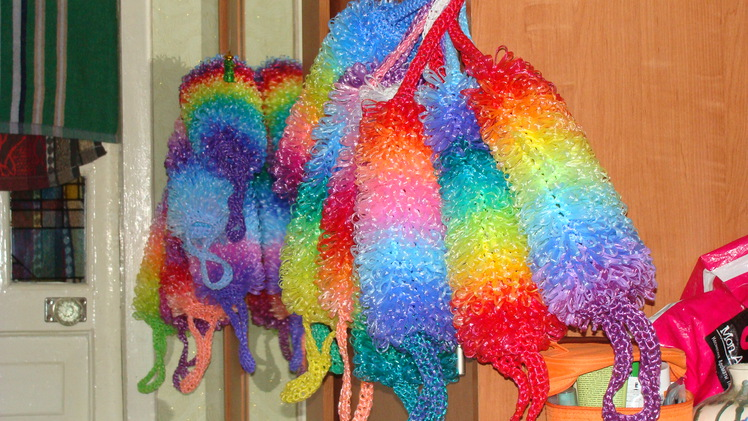 Вязание из пряжи для мочалок