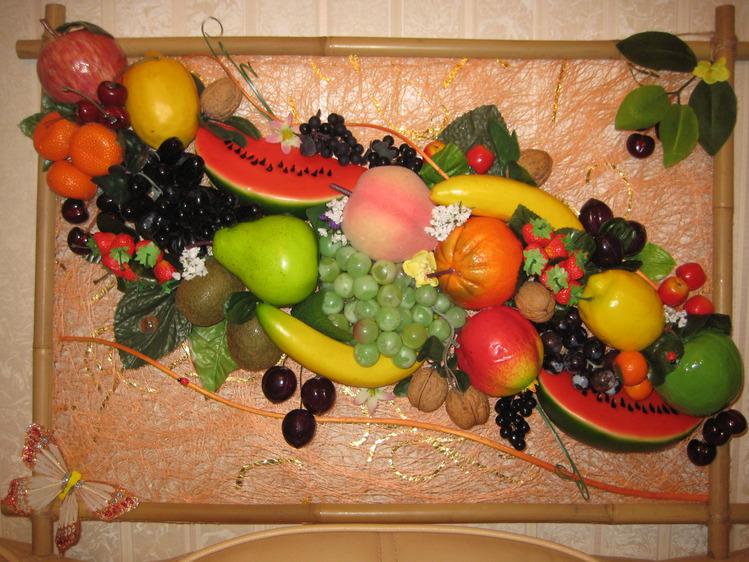 Поделки из искусственных овощей и фруктов фото 22