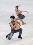 GANGNEUNG, SOUTH KOREA - MARCH 02:  Wenjing Sui and Cong Han of China compete in the Pair Short on day three of the 2011 World Junior Figure Skating Championships at Gangneung International Ice Rink on March 2, 2011 in Gangneung, South Korea.  (Photo by C